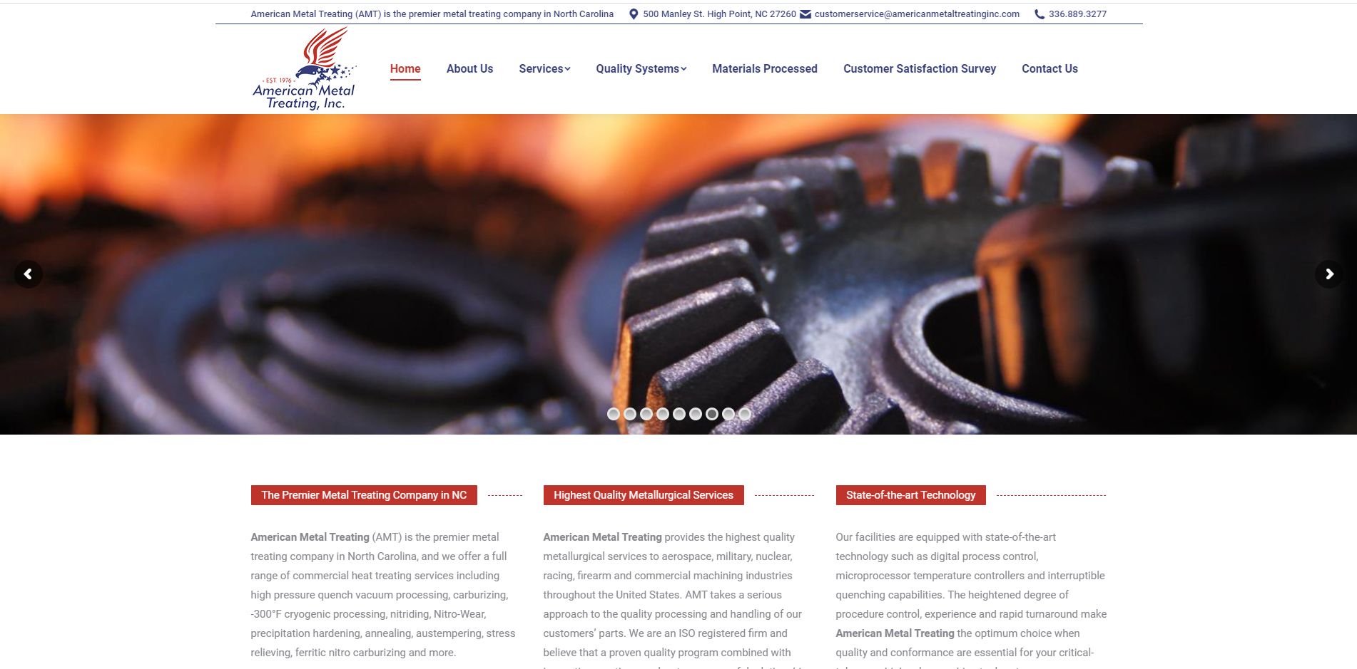American Metal Treating High Point, NC | Pinwilz - Unifiweb Website