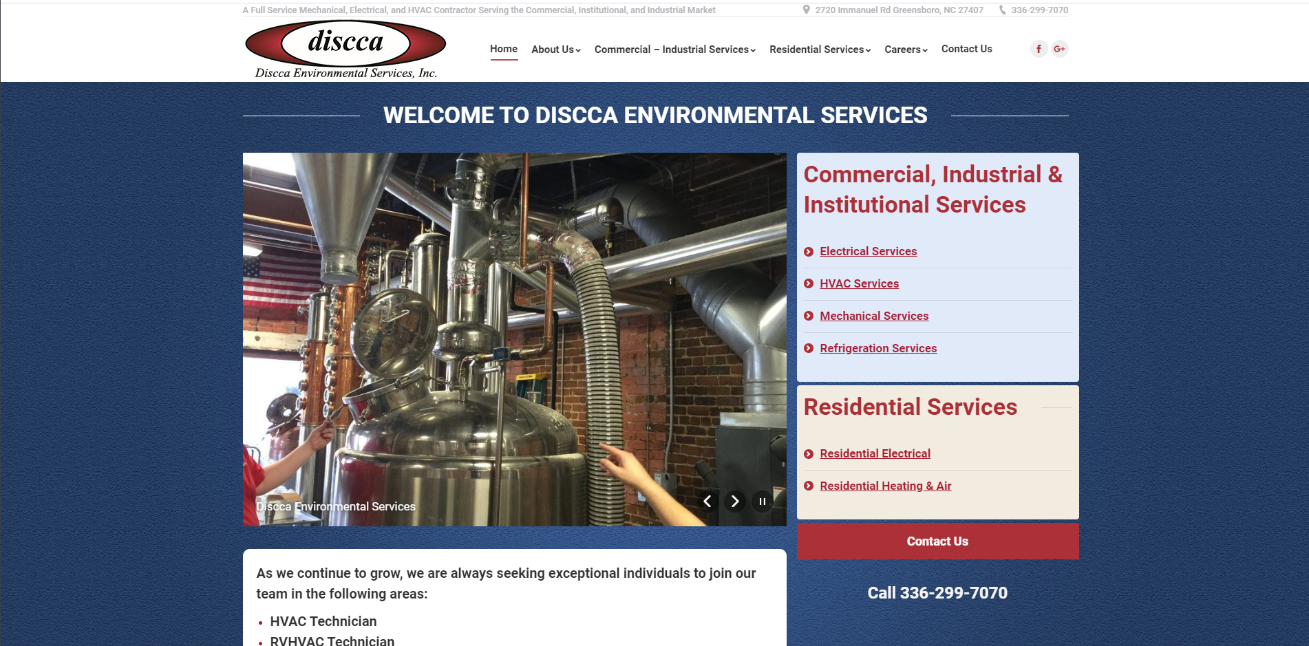 Discca Environmental Services Unifiweb Website Design Development